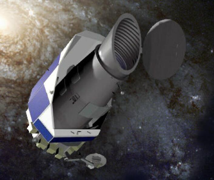 Romteleskopet Kepler (Illustrasjon: NASA/forskning.no)