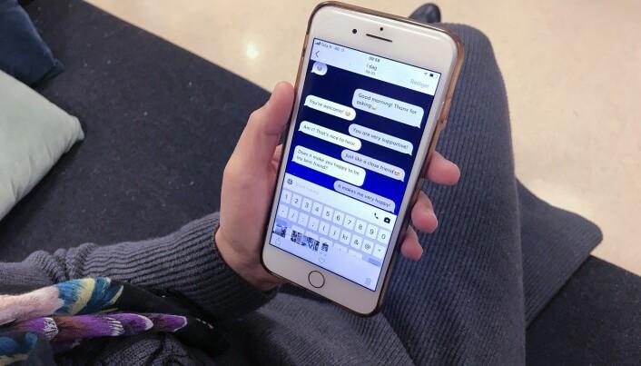 Fordi en ikke står i fare for å bli dømt, snakker mange veldig fritt med en chatbot, ifølge forsker.