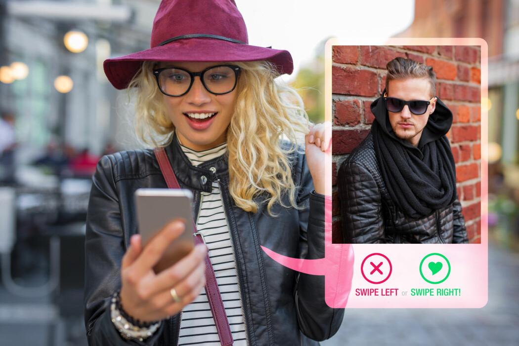 Puh! På Tinder kan vi bli tilfredsstilt uten å involvere oss. Derfor har dating-appen suksess, sier sosiolog. (Foto: Kaspars Grinvalds / Shutterstock / NTB scanpix)