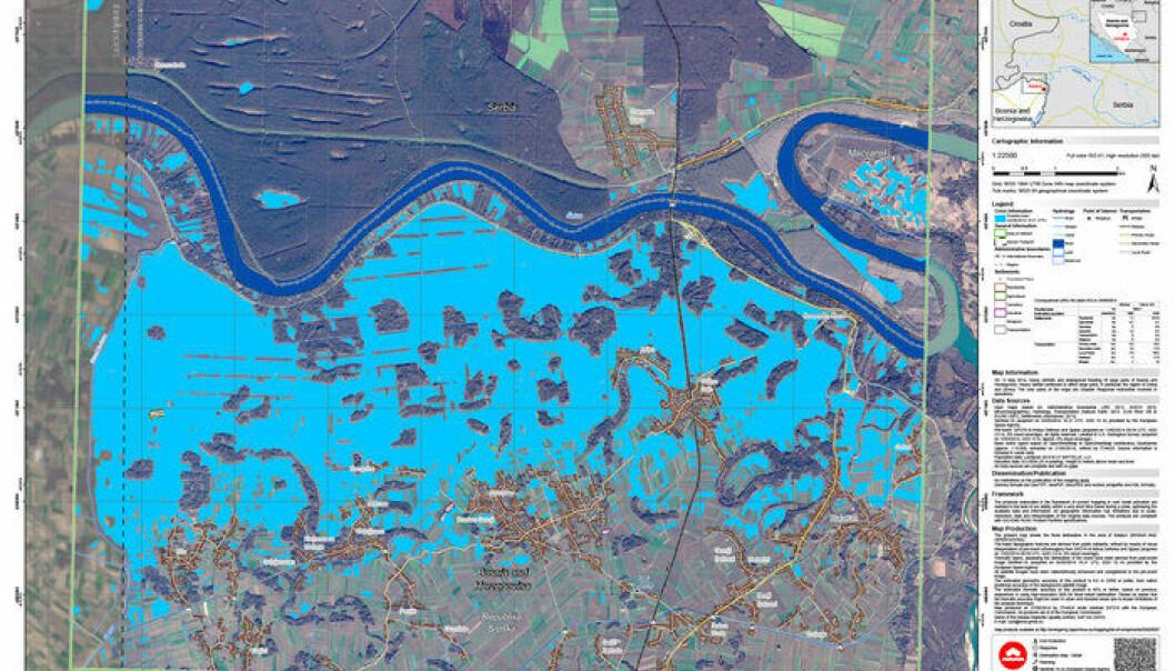 Ny miljøsatellitt forbedret flomkart over Balkan