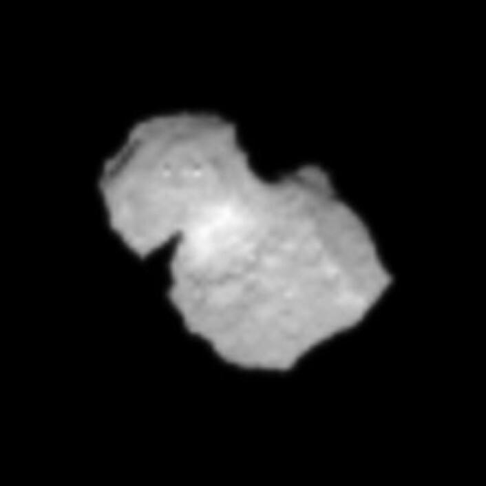 Rosetta nærmer seg omsider målet. Dette bildet er datert 31. juli. (Foto: (ESA/Rosetta/NAVCAM))