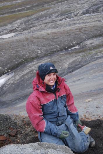 Utgraving av fossiler på Svalbard. Burde jeg i stedet blitt kreftlege? Foto: Spitsbergen Jurassic Research Group