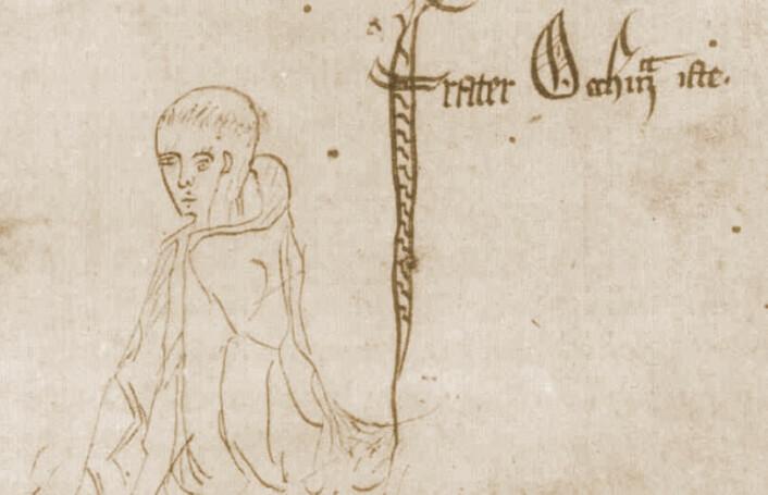 William av Ockham, fra et manuskript av Ockhams Summa Logicae, 1341. (Foto: (Bilde: Wikimedia Commons))