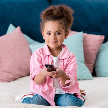 Kids who had a TV in their bedroom when they were 6 years old had slightly lower emotion understanding when they were 8, compared to children who did not have a TV in their bedroom, the researchers found. Photo: Colourbox