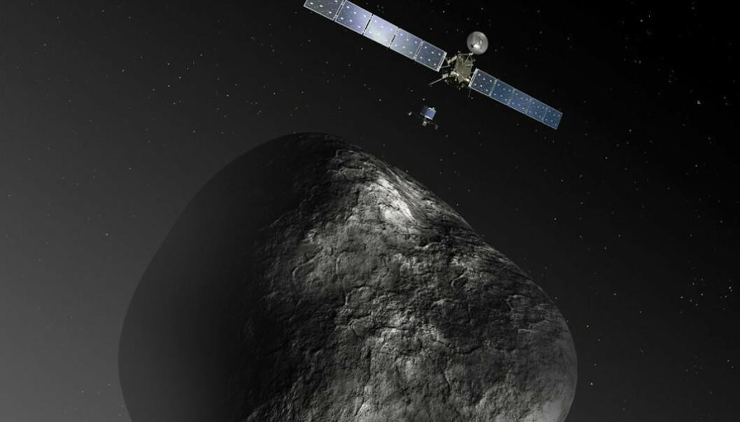– Vi er ved kometen