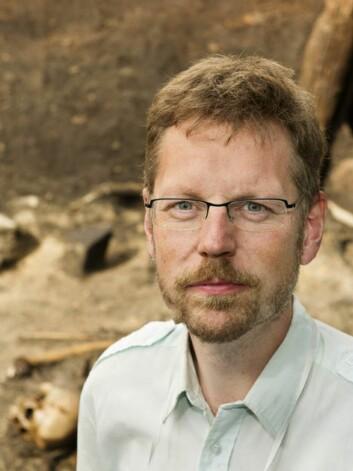 Mads Kähler Holst har ledet utgravingen. (Foto: Aarhus universitet)