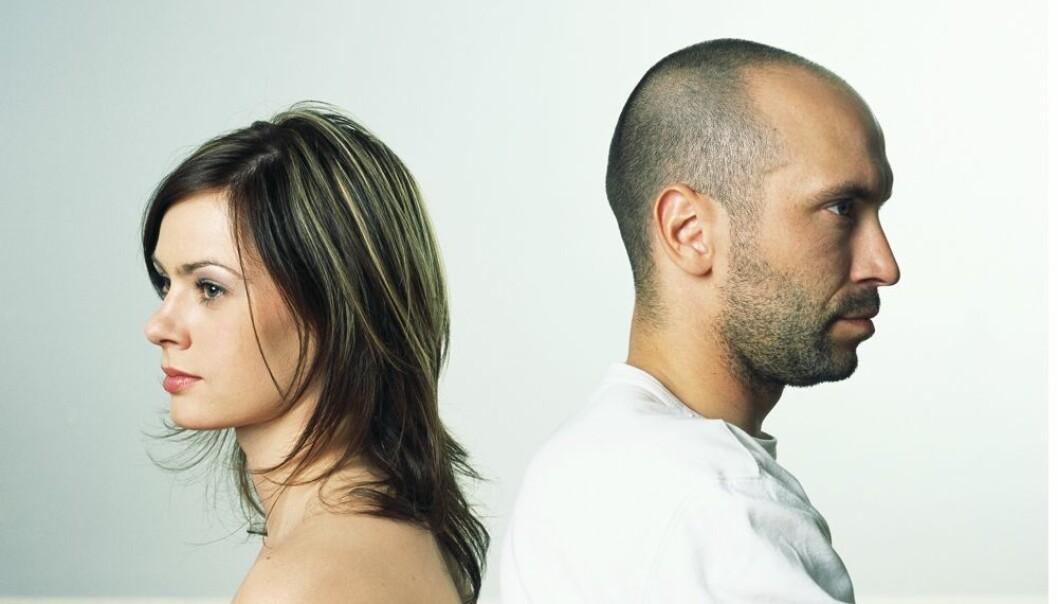 Par i Norge er vesentlig mer uenige enn par i de fleste andre land. (Illustrasjonsfoto: Colourbox)