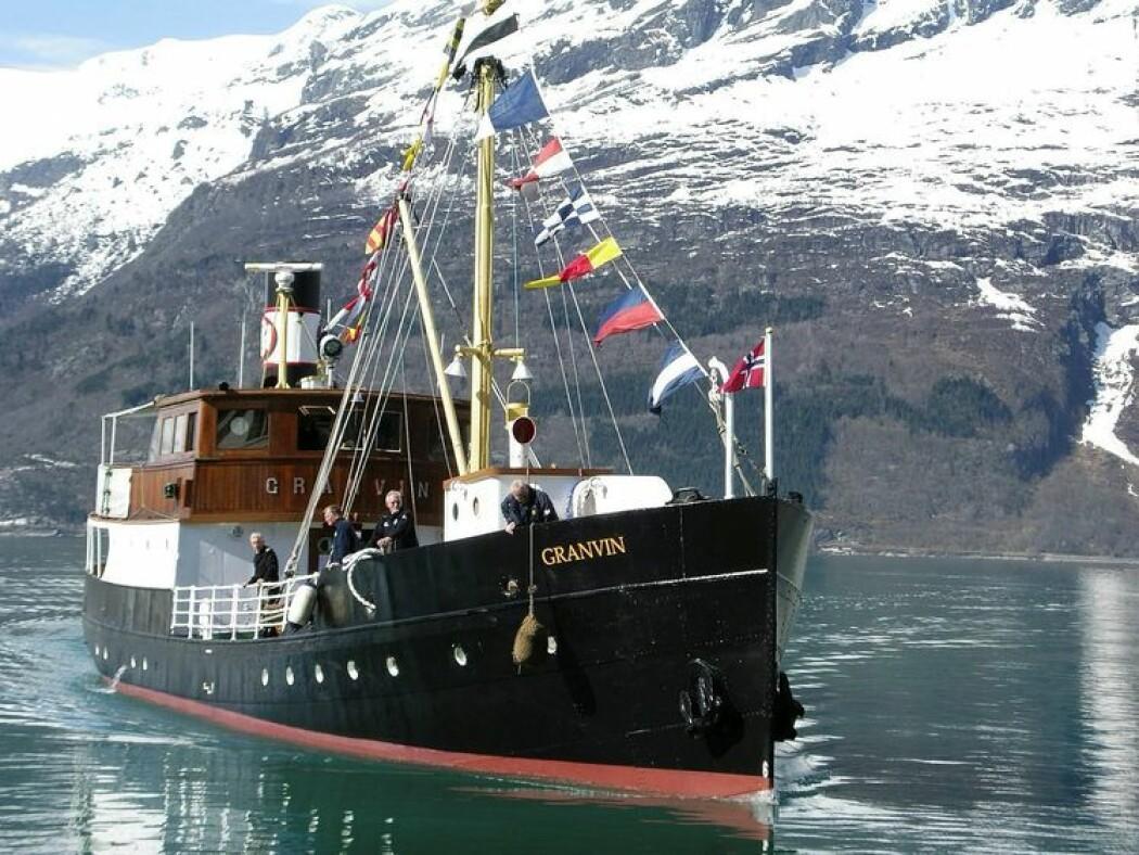 M/S Granvin ble bygd på Mjellem & Karlsen verft i Bergen i 1931, og er et av Norges freda fartøy. Foto: Riksantikvaren/Ragnhild Hoel
