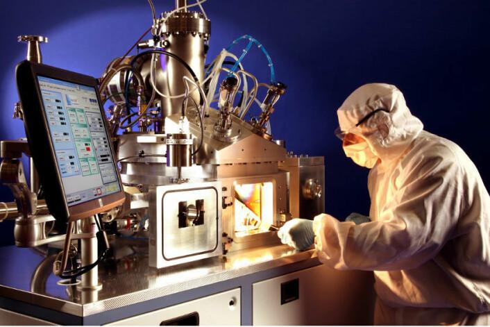 Karbon-nanorørene dyrkes i en reaktor. (Foto: Surrey NanoSystems)