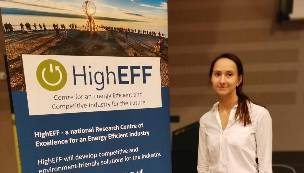 – For meg er HighEFF utrolig nyttig med tanke på nettverksbygging. Jeg har blant annet blitt veldig godt kjent med NTNU Samfunnsforskning og hva de gjør, sier stipendiat Irina N. Isaeva ved Nord universitet. (Foto: Nord universitet).