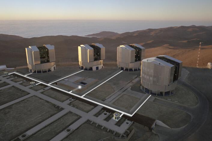 ESOs Very Large Telescope (VLT) i Chile. (Foto: ESO, Creative Commons)