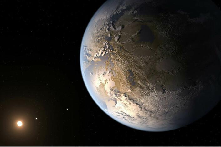 Kepler 186-f er foreløpig det nærmeste vi kommer en tvillingplanet til jorda. Planetens eksistens ble bekreftet i april i år. (Foto: NASA)