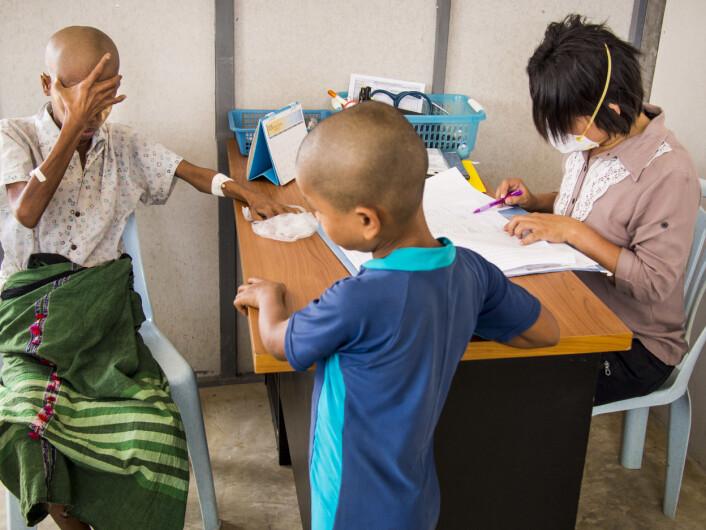 Tuberkuloseklinikk i Thailand. (Foto: Jack Kurtz/Zuma Press)