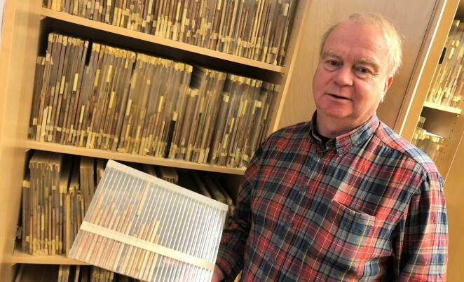 Core samples have been an important source for dating wood materials. It is not always desirable to take core samples, so the photodendrometry method is a good alternative way to date wood, says NTNU researcher Terje Thun. (Photo: Kjersti Lunden Nilsen)
