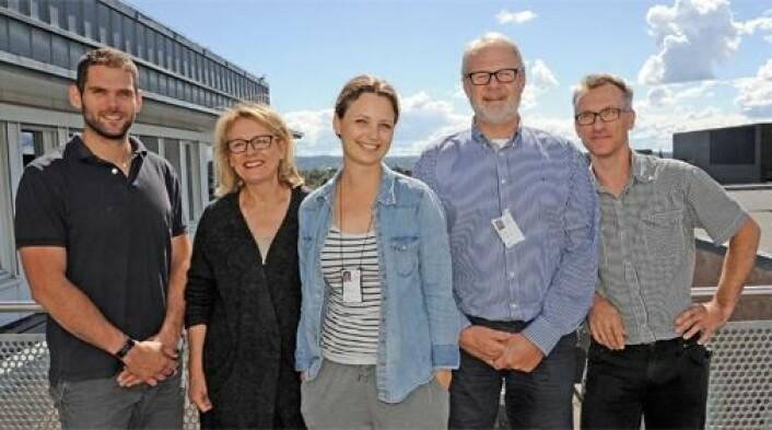 Fra venstre; Stian Andrè Engen, Inger Johanne Blix, Louise Bjerke, Karl Schenck og Olav Schreurs. (Foto: Per Gran)