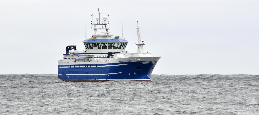 Avskjer frå kvitfisk vert no til hermetisert hunde- og kattemat om bord på ein av verdas største autolinebåtar, MS Frøyanes. (Foto: Ervik Havfiske)