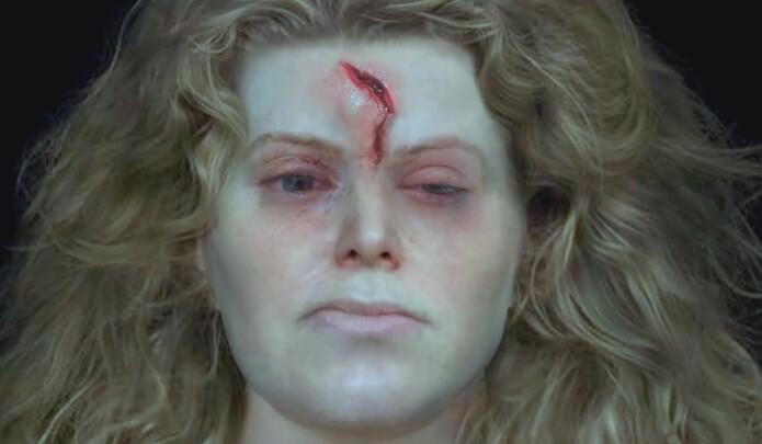 Forskerne fant tegn på en hodeskade. Kan hun ha blitt drept i kamp? (Foto: National Geographic)