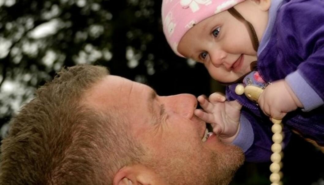 Mye tid med pappa er bra for barnets utvikling
