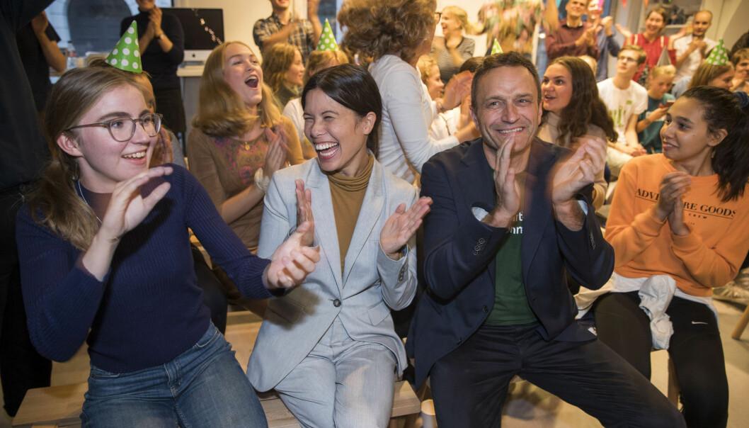 Årets lokalvalg engasjerte langt flere unge velgere. Miljøpartiet De Grønne kan ha vunnet på det. (Foto: Terje Pedersen/NTB scanpix)