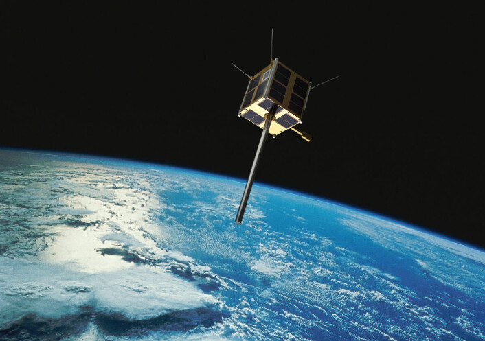 AISSat 1 og 2 går i baner omtrent fra pol til pol. Slik sveiper de over hele jordkloden etter hvert som jorda dreier under dem. Polene blir dekket ved hvert omløp, som varer rundt 100 minutter. (Foto: (Bilde: Norsk Romsenter/FFI/NASA))