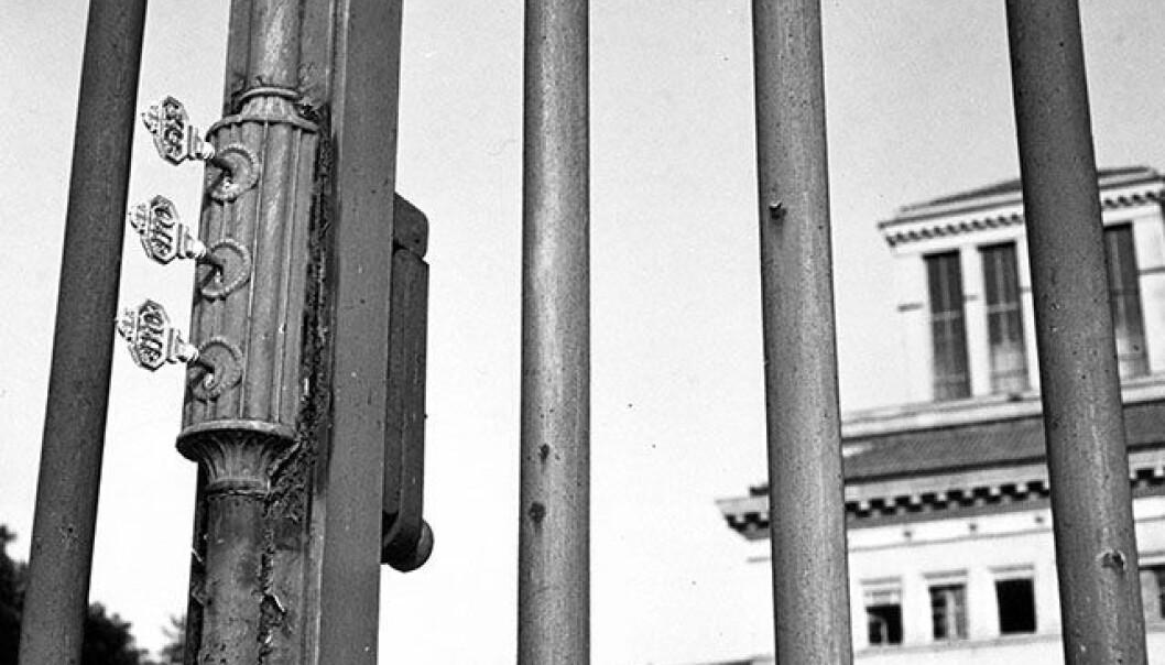 Porten med de tre nøklene ved ILOs gamle hovedkvarter i Genève symboliserer trepartssamarbeidet mellom arbeidstakere, arbeidsgivere og regjeringer.
