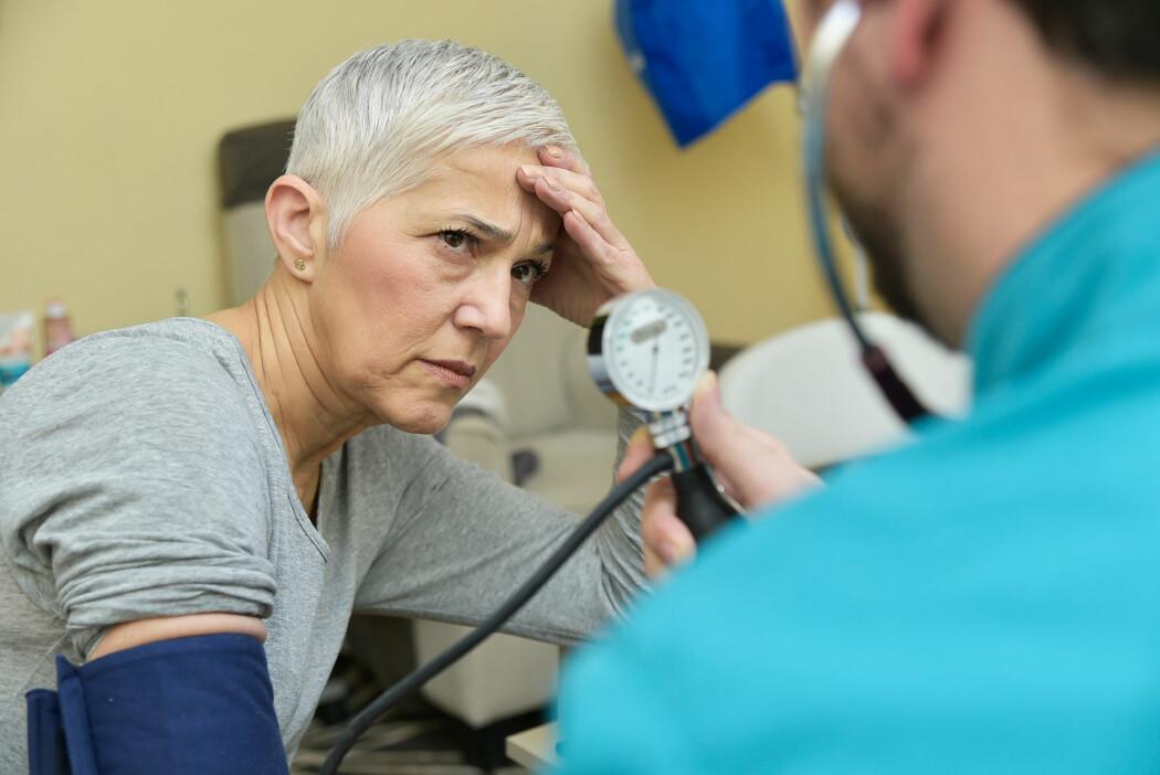 Over 19 000 deltakere med høyt blodtrykk var med i den nye studien. Pasientene ble fulgt i en periode på mellom 4 og 8 år. (Illustrasjonsfoto: TeodorLazarev, Shutterstock, NTB scanpix)