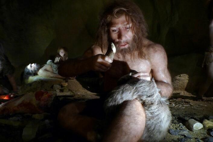Våre slektninger neandertalerne, slik neandertalermuseet i Krapina, Kroatia, presenterer dem. (Foto: Nikola Solic/Reuters)