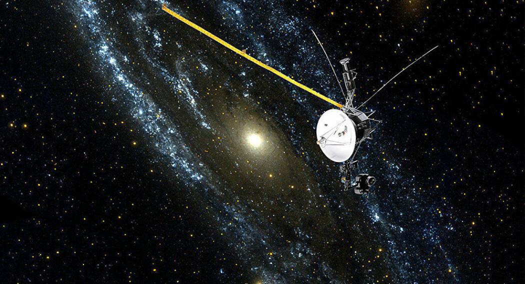 Voyager 2 nådde grensen til det interstellare rom 5. november 2018. Nå kommer fem nye studier om målingene i Nature Astronomy. (Illustrasjon: NASA)