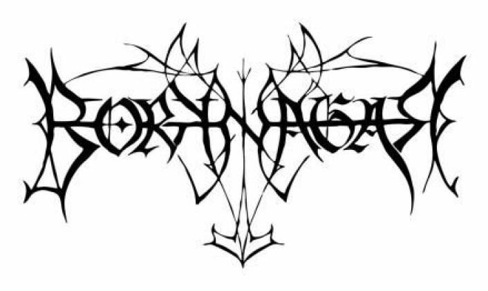 Borknagars logo, hvor Tors hammer er tatt med, er et godt eksempel på hvordan de fleste metallogoene ser ut.