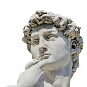 Den italienske kunstneren Michelangelo ble født i Toscana, men døde i Roma. Hans skulptur David står i Firenze. (Foto: Colourbox)