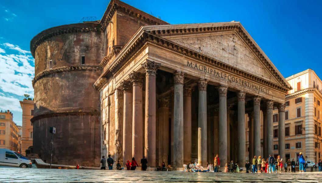 Pantheon i Roma er nesten 2000 år gammel. På den tiden var Roma Europas kulturelle sentrum. Microstock