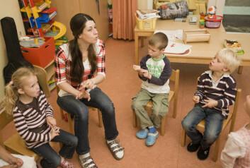 Det spiller ikke lenger like stor rolle om barnehagen er privat eller kommunal. (Illustrasjonsfoto: www.colourbox.no) (Illustrasjonsfoto: Colourbox)