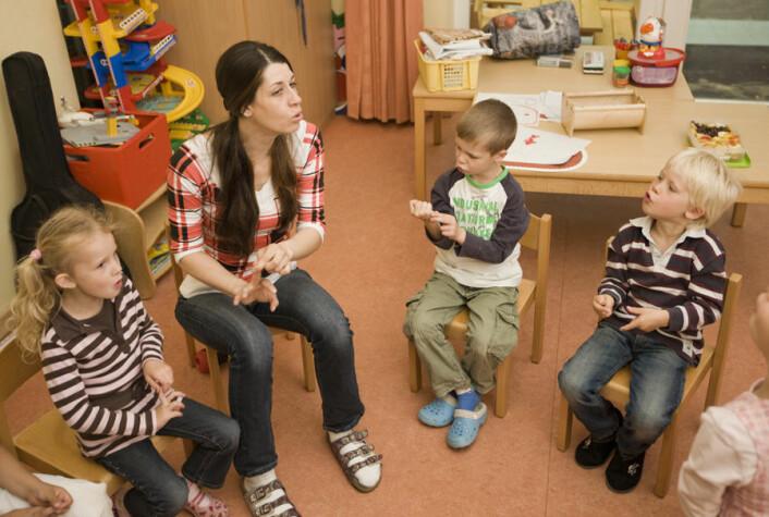 Barn i barnehagen skal få støtte ut fra egne kulturelle forutsetninger, og støtte for bruk av eget morsmål. (Illustrasjonsfoto: Colourbox)