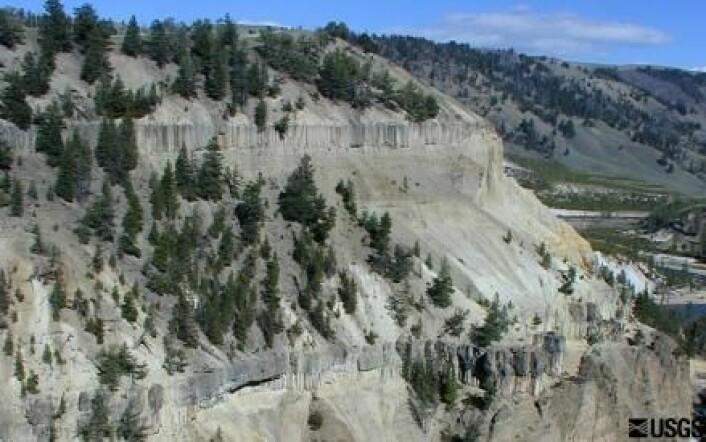 Landskapet i Yellowstone er formet av fortidens superutbrudd. Her ser vi resultatet av flytende lava fra et utbrudd for 1,3 millioner år siden. (Foto: USGS)