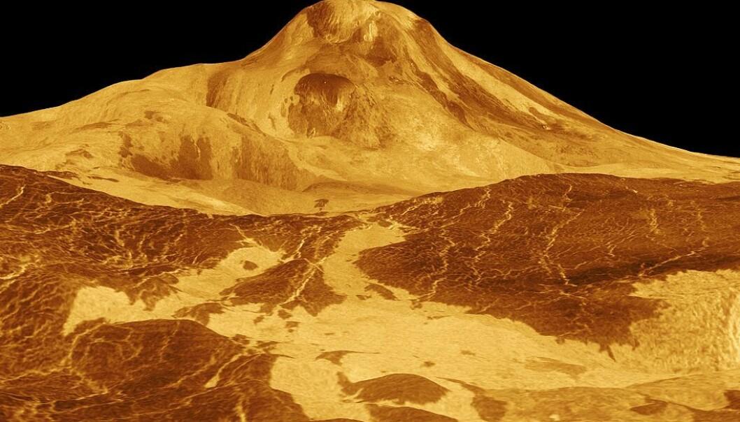 Rekonstruert radarbilde fra overflaten på Venus. ESA
