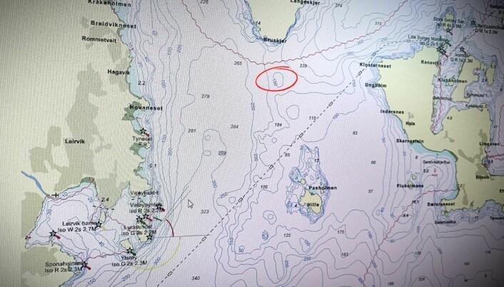 Bukkarevet ligg sør for Bukkaskjeret, på terskelen til Hardangerfjorden. Fem kilometer vest ligg industribyen Leirvik på Stord. (Foto: Erlend A. Lorentzen / Havforskningsinstituttet)