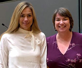 Professorene Monica Melby-Lervåg og Courteney Norbury forsker begge på språkvansker. Forskningen viser blant annet at barn med språkvansker har vansker med å sette ord på følelser. (Foto: UiO)