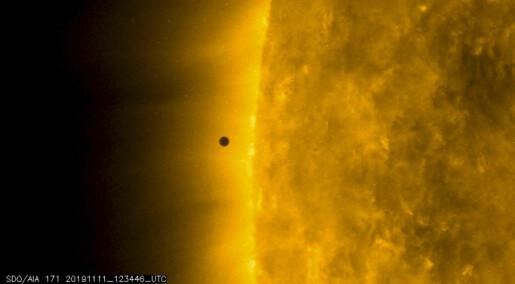 Merkur synlig i over fem timer under passering foran sola
