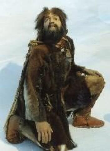 """""""Slik ser forskere for seg at Ötzi så ut mens han levde. """""""