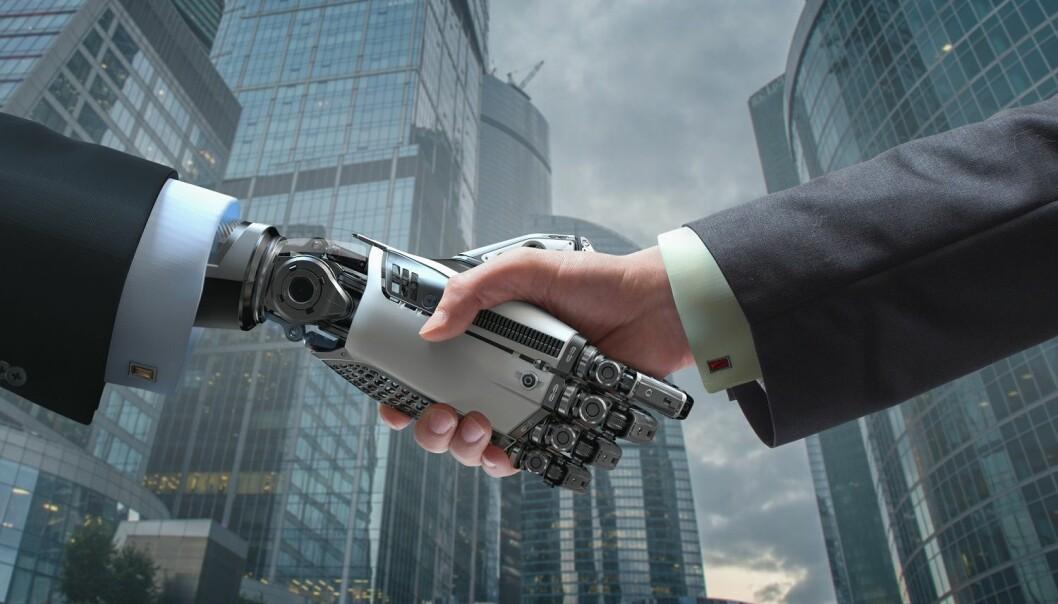Forsker Tale Skjølsvik råder ledere til å se på kunstig intelligens som en partner med sine styrker og svakheter. (Illustrasjon: Willyam Bradberry / Shutterstock / NTB scanpix)