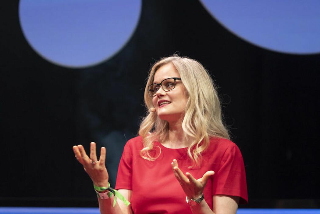 Thea Selliaas Thorsen på scenen under The Big Challenge festival. (Foto: Thor Nielsen/NTNU)