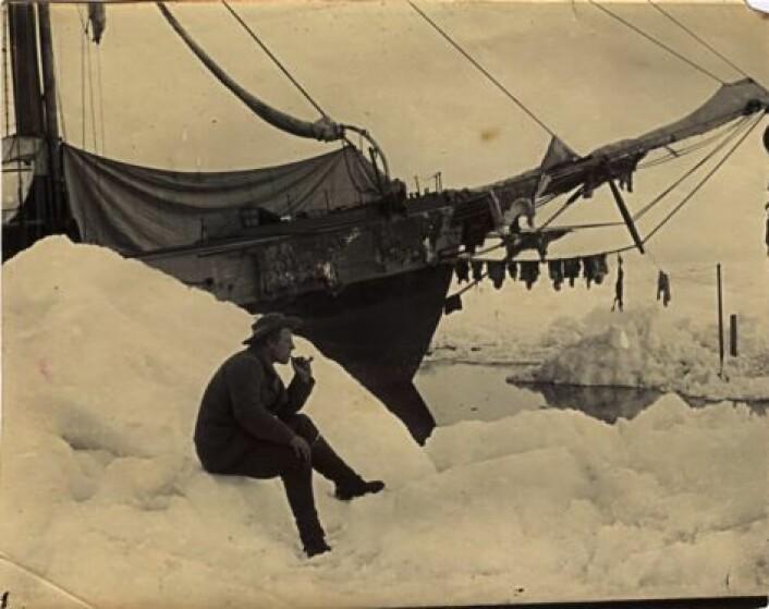 Fridtjof Nansen foran Fram.