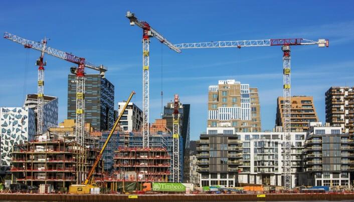 Hvor inkluderende er nye byutviklingsprosjekter? Her illustrert med Bjørvika i Oslo. (Foto: Ole Berg-Rusten / NTB Scanpix)