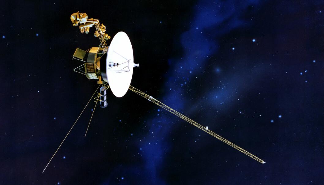 Voyager 2 nådde grensen til solsystemet vårt i november i fjor. (Illustrasjon: NASA/JPL)