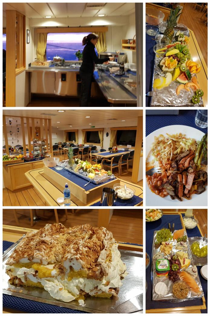 Messa er vårt samlingspunkt under måltidene, med et variert utvalg for enhver smak. Bilder: Lilja R. Bjarnadóttir
