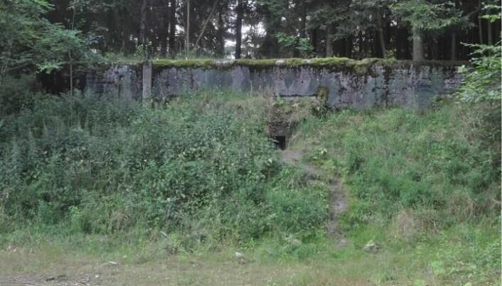 Slik ser bunkeren ut fra utsiden.