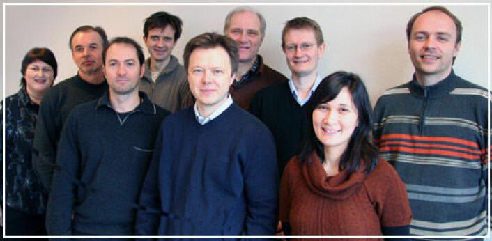 Folk ved SIMLab, fra venstre: Toril M. Wahlberg, Øystein Grong, Raffaele Porcaro, Arild H. Clausen, Tore Børvik, Magnus Langseth, Odd Sture Hopperstad, Aase Reyes, Odd-Geir Lademo. (Foto: NTNU)