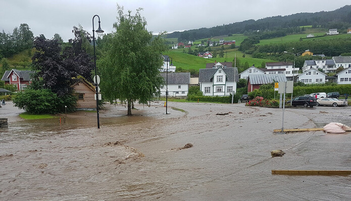 The 2017 flooding in Utvik village. A flood can do great damage in short order.