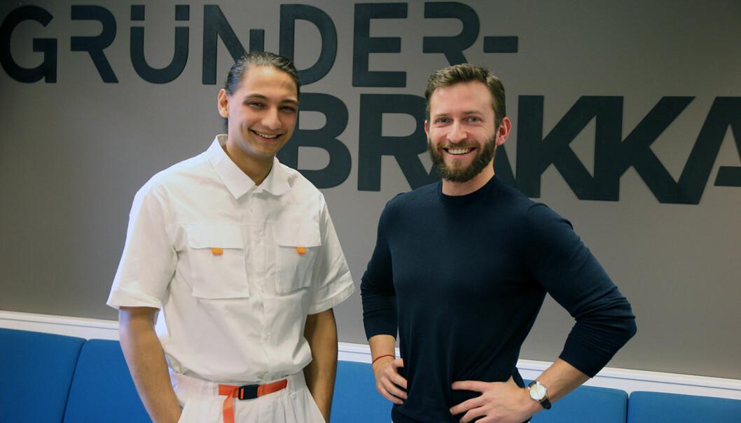 Moina Medboe Tamuly (t.v.) er medgründer og teknisk sjef i Ntention. Frank Øygard jobber med produkt- og utviklingsstrategi.