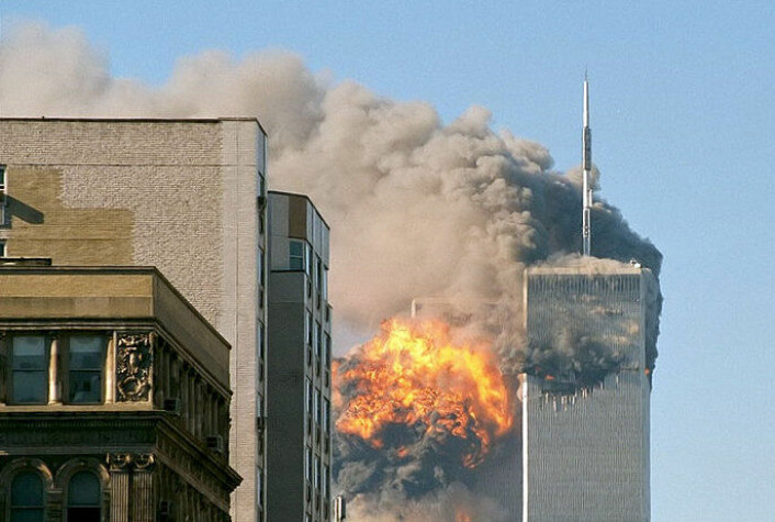 Twin Towers i New York 11. september 2001. (Foto: Wikimedia Commons)